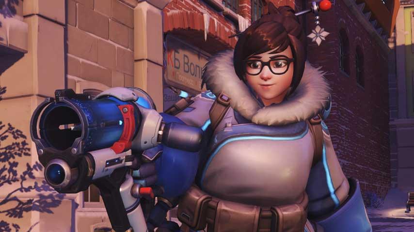 Mei Overwatch posing