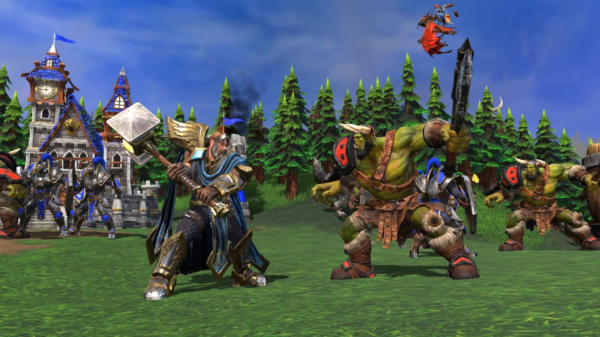 warcraft 3 reforged human orc fighting