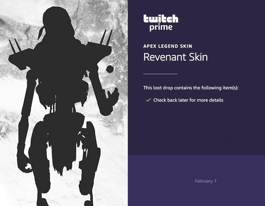 Twitch teases Apex Legends free Revenant skin