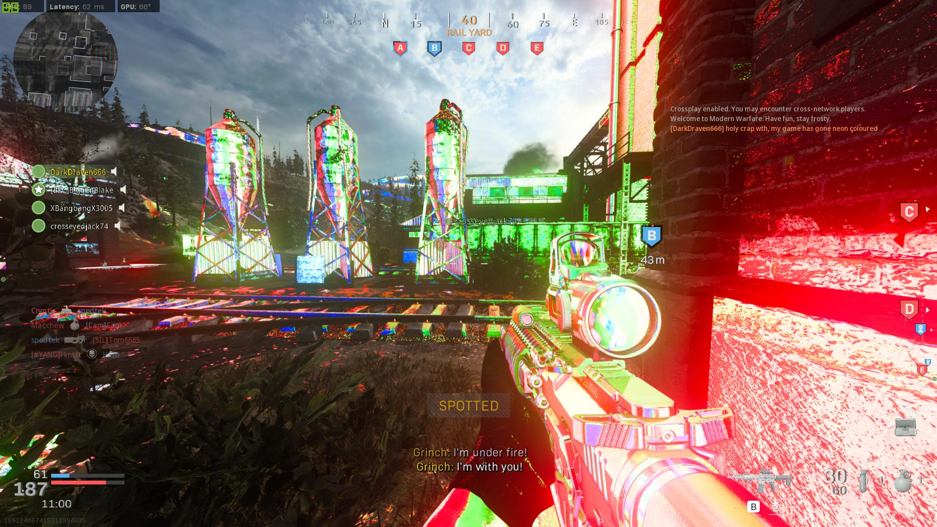 Modern Warfare texture glitch.