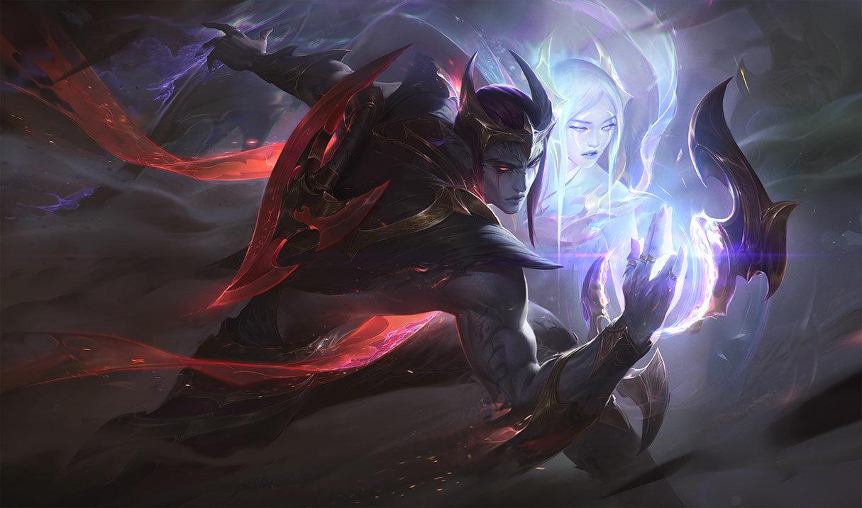 Nightbringer Aphelios skin for League of Legends