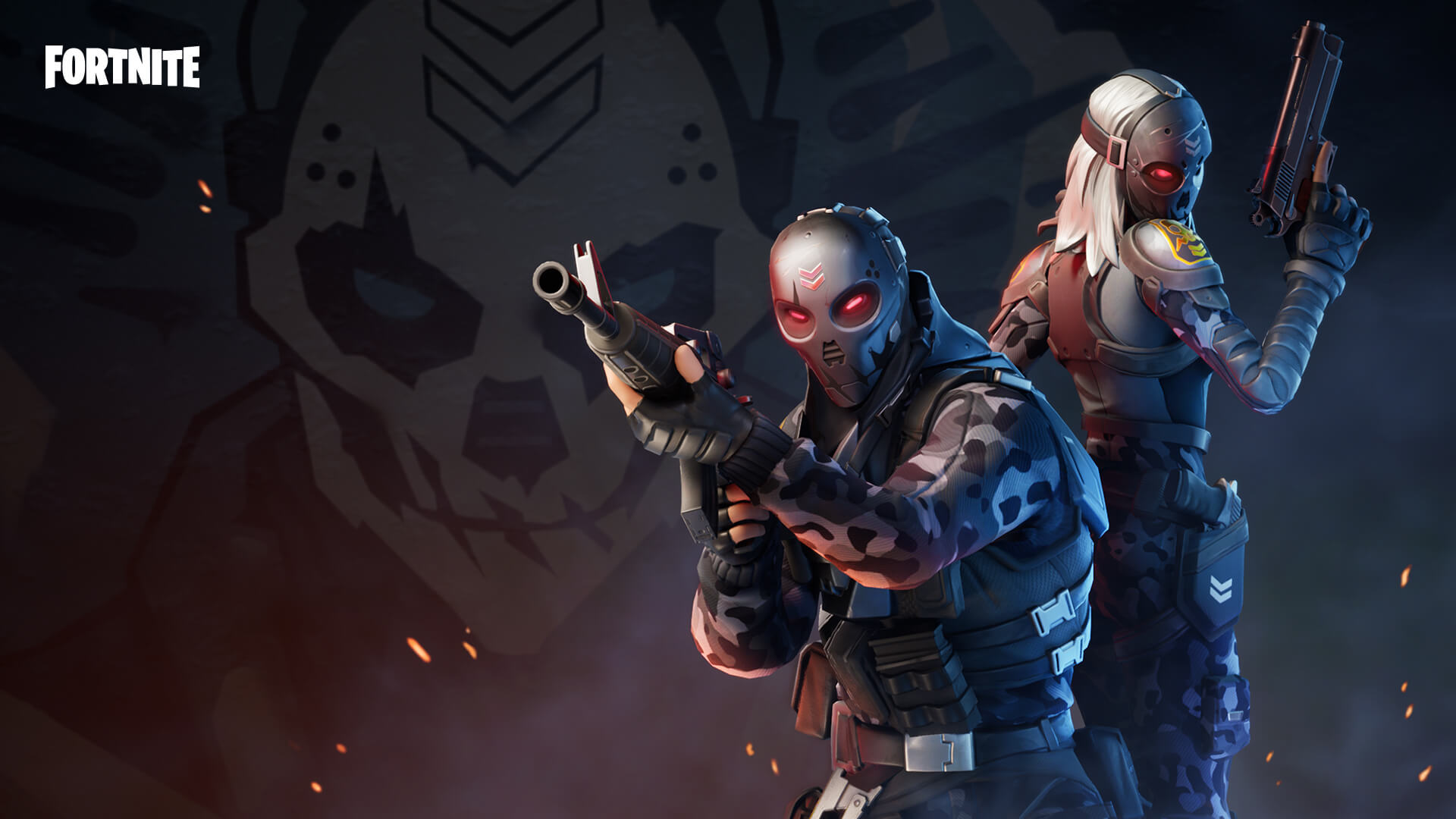Fortnite skins from Love and War LTM.