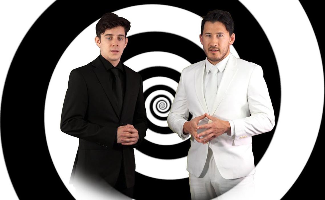 Markiplier and Ethan Nestor on Unus Annus YouTube video