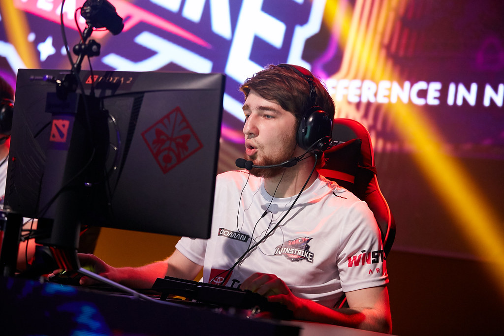 Cooman playing for Winstrike at StarLadder
