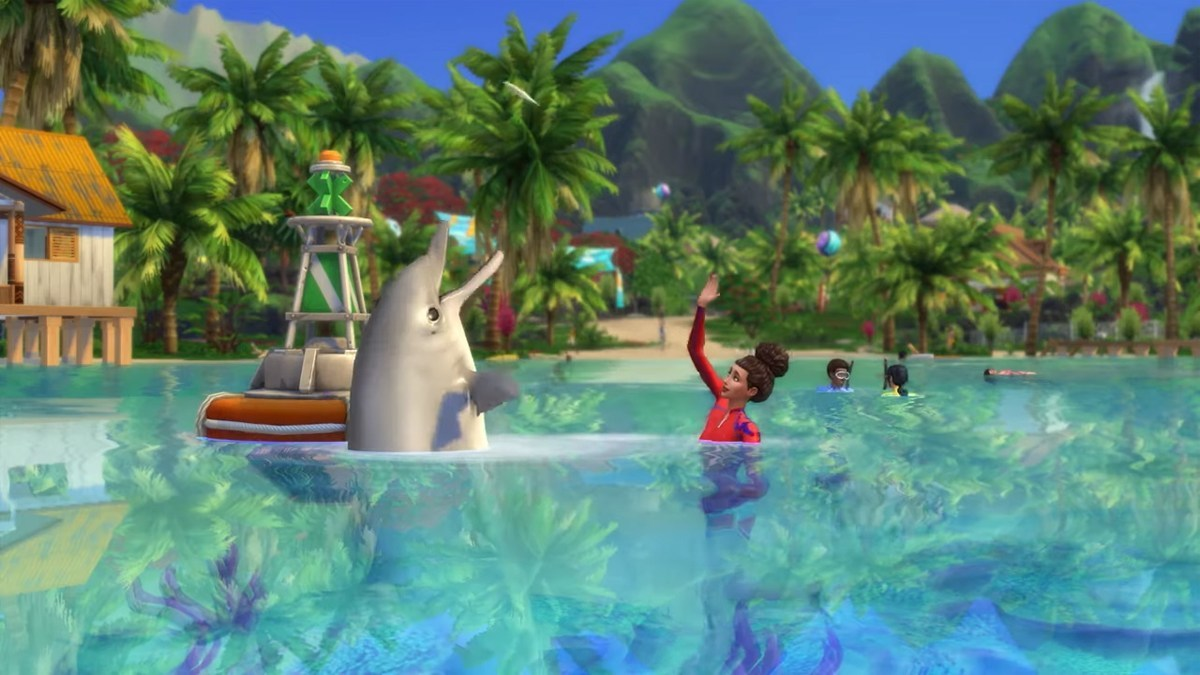 sims 4 island living screenshot