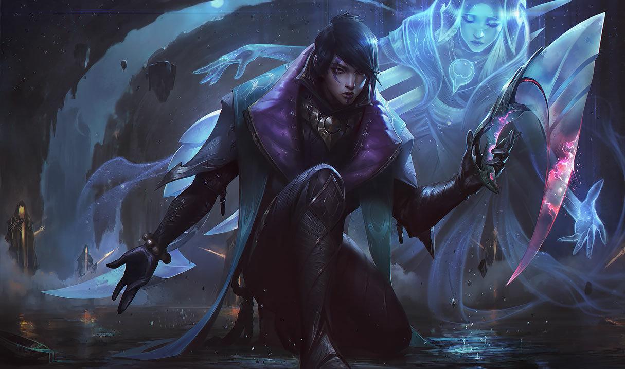 Aphelios splash art for League of Legends