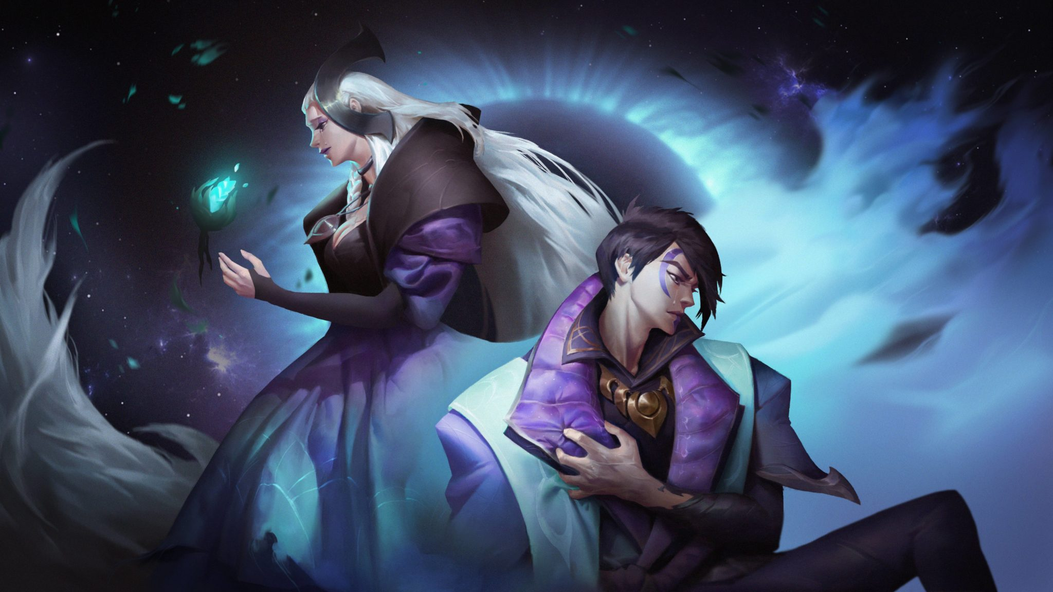 Aphelios and Alune in League of Legends