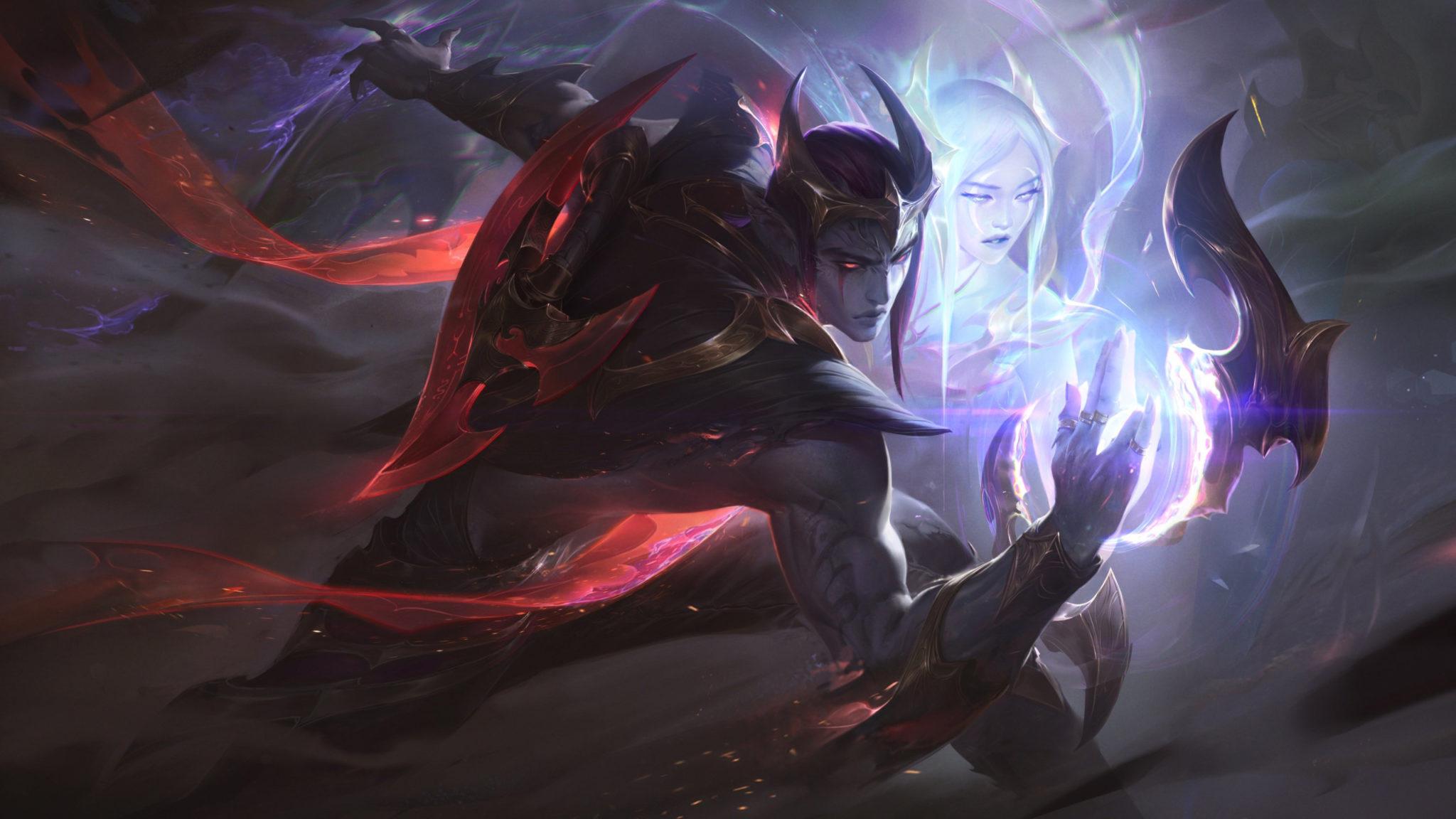 Nightbringer Aphelios skin in League of Legends