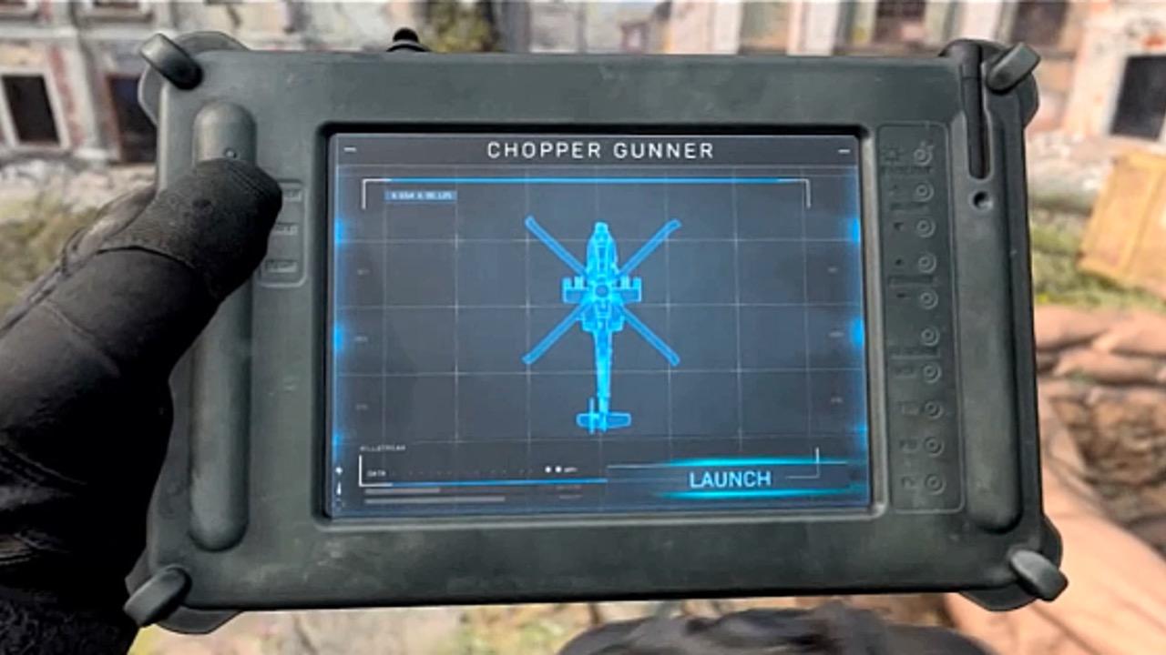 Chopper Gunner in Modern Warfare