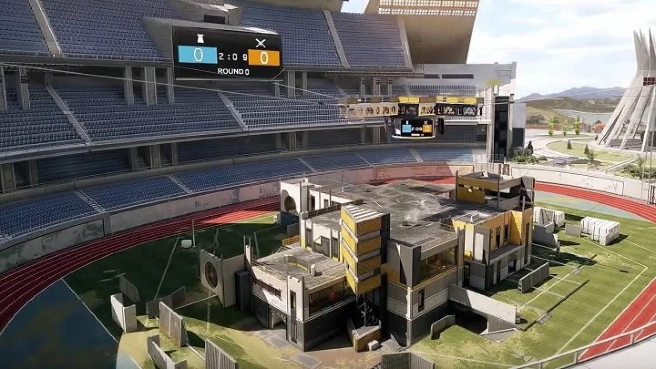 Stadium map in Rainbow 6