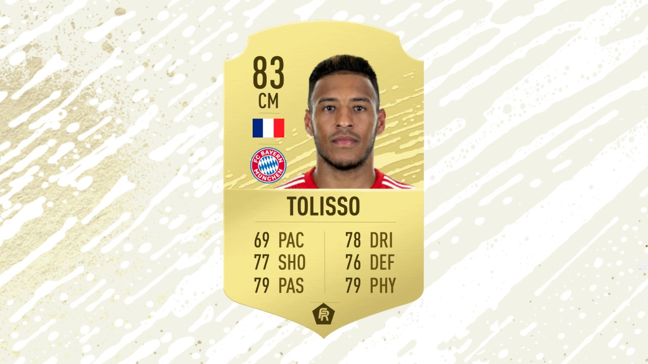 Tolisso card in FUT 20