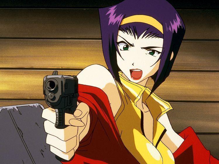 Faye Valentine holding a gun.