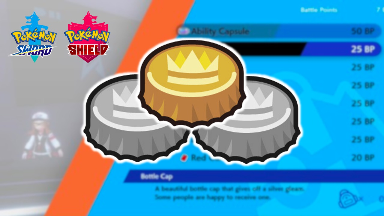 Bottle caps in Pokemon Sword Shield