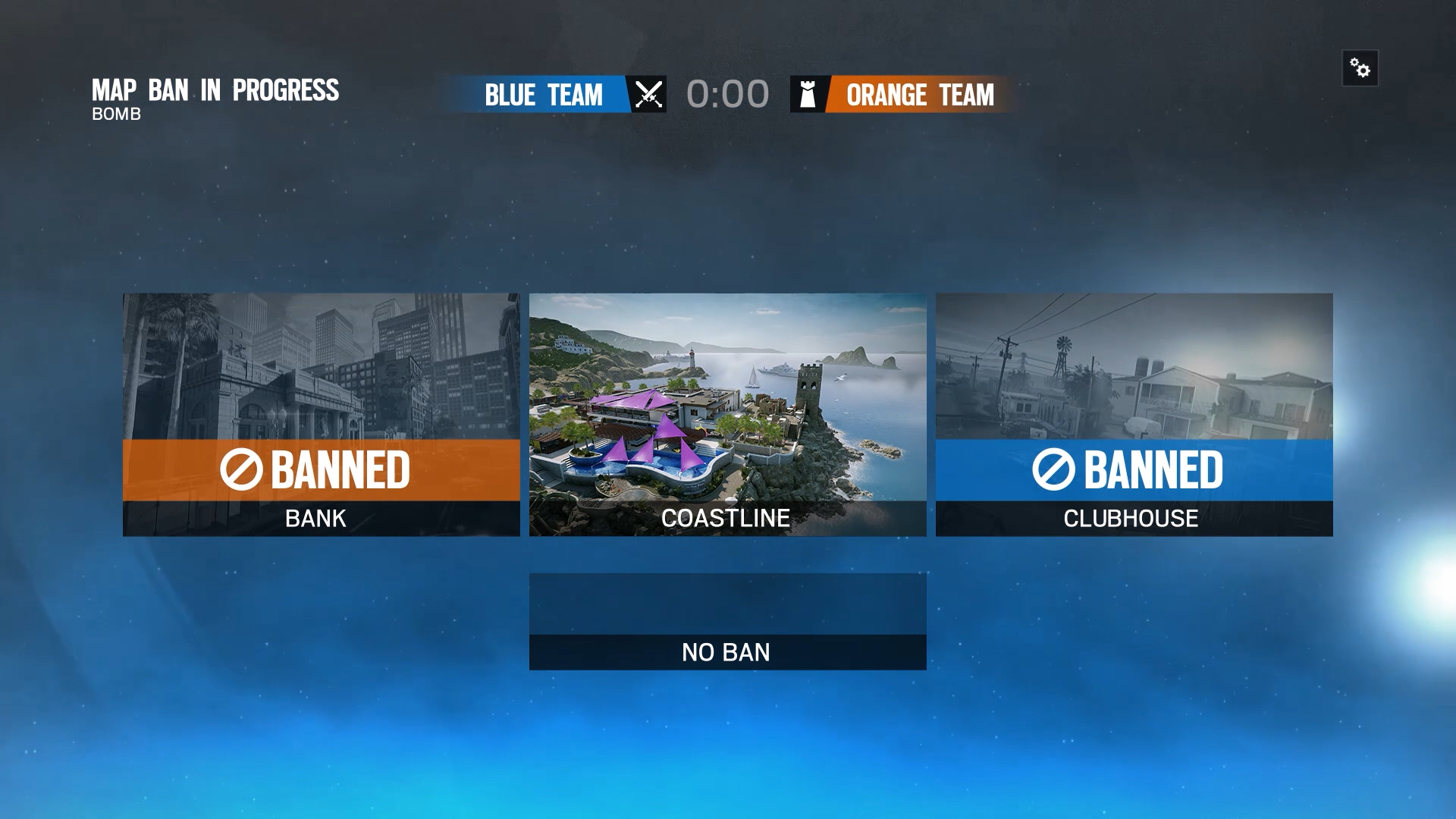Rainbow 6 Map Ban Feature