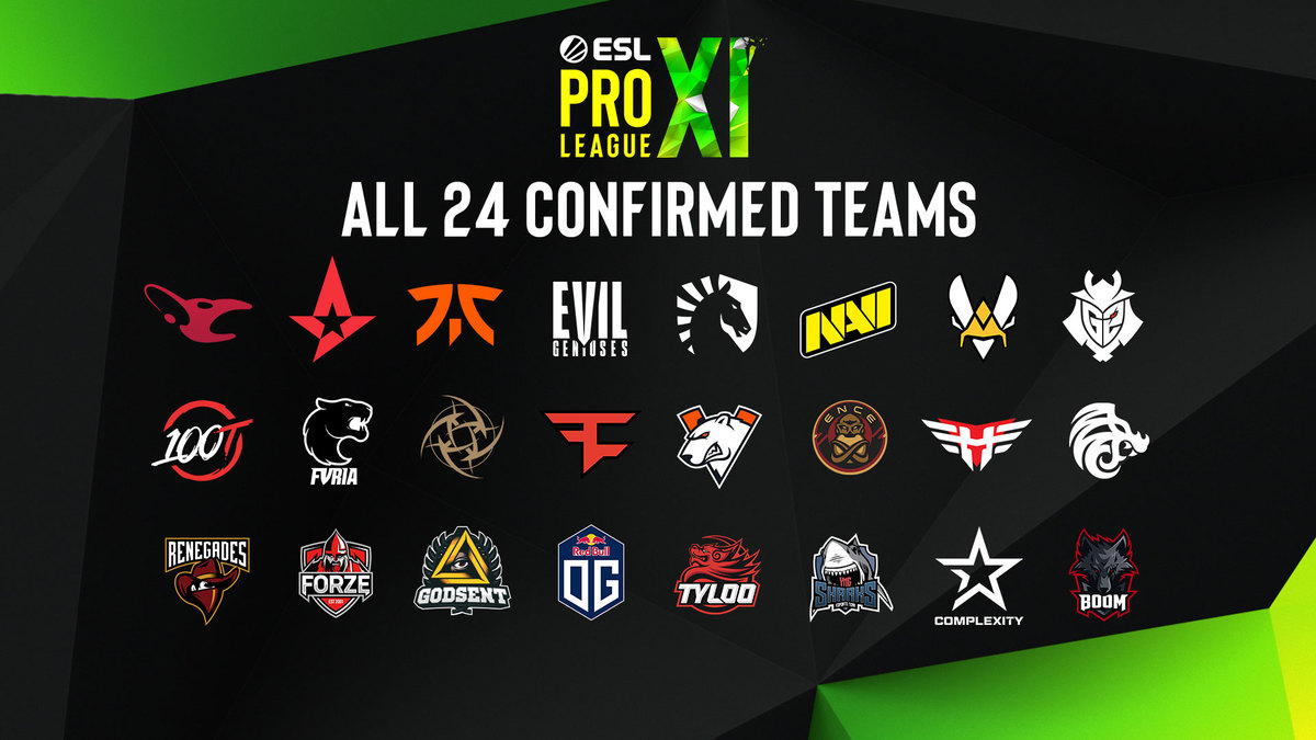 Teams for Season 11 of ESL Pro League.