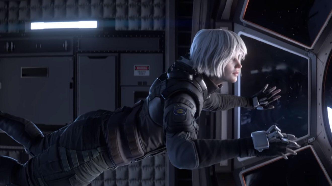 Iana in spaceship in Rainbow 6 trailer