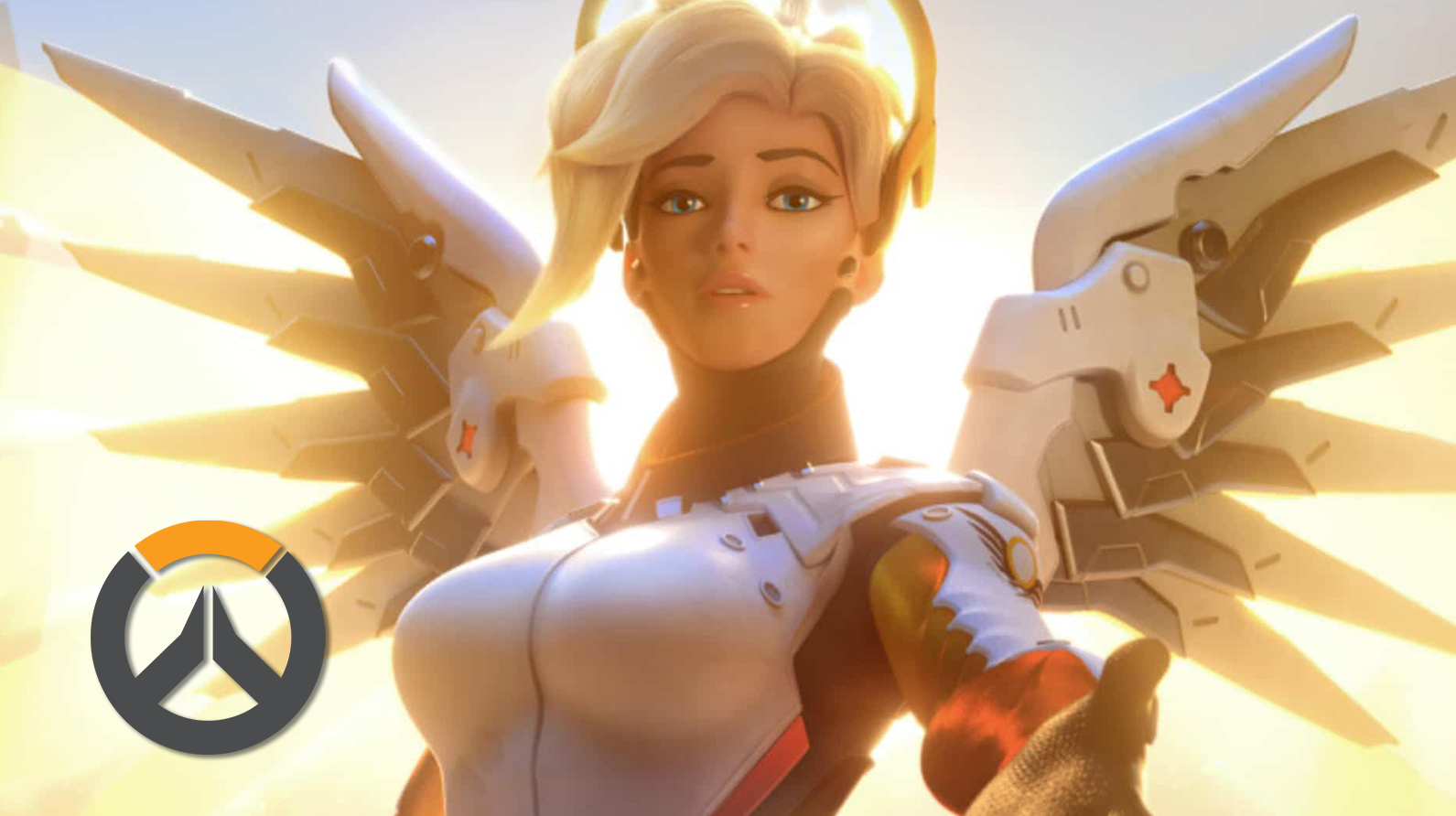 Overwatch's Mercy reaches her hand out
