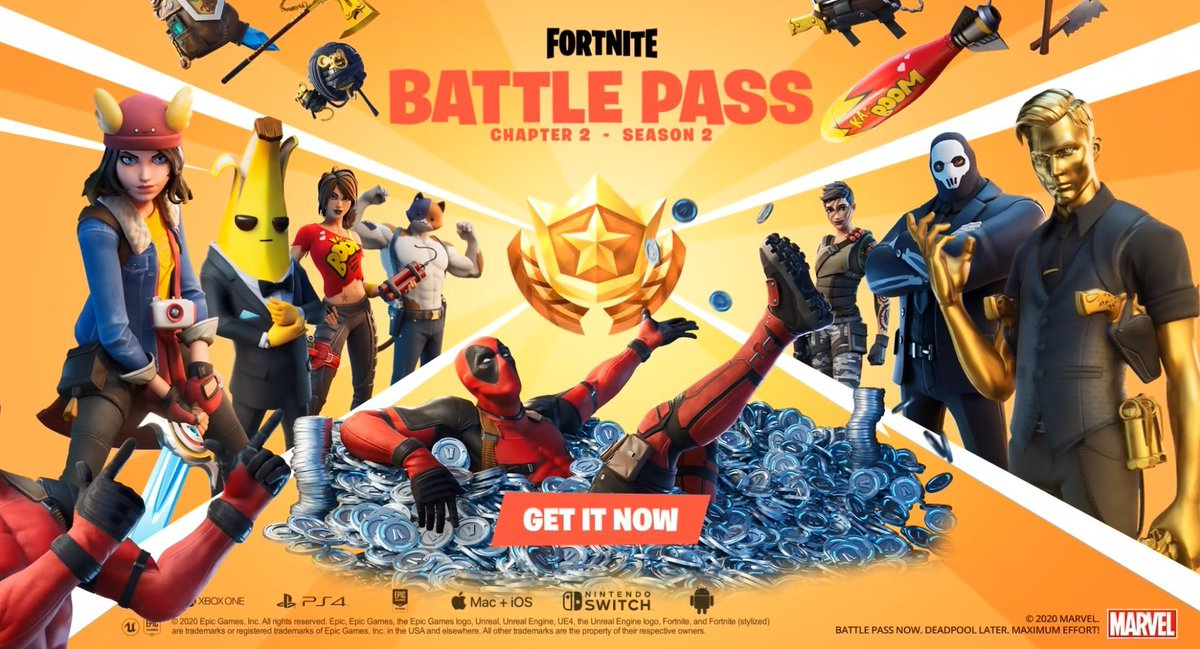 fortnite season 2 battle pass promotional image