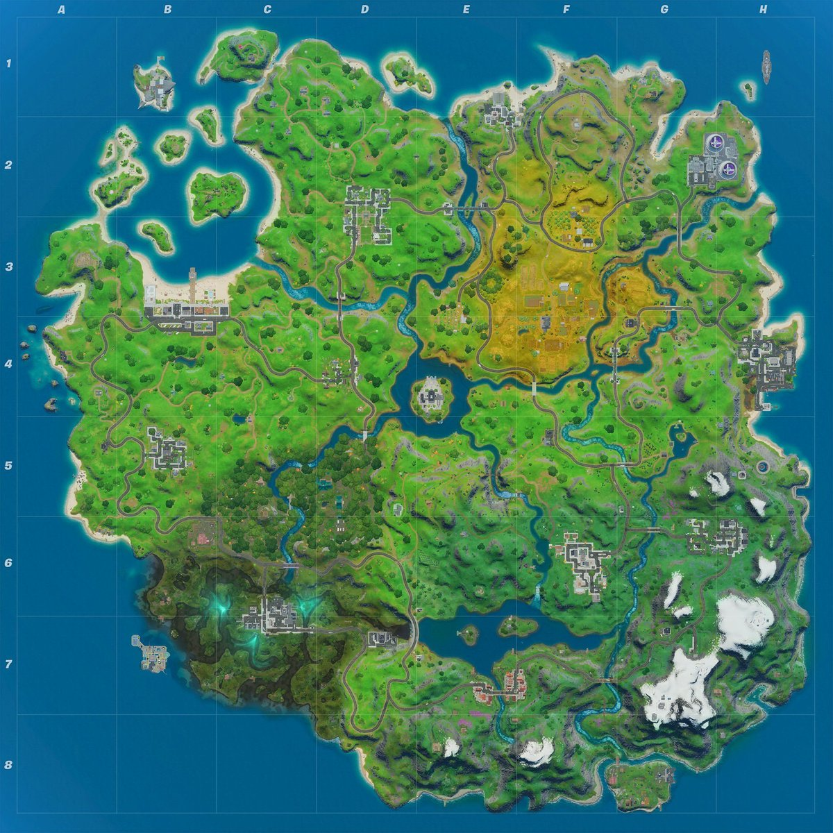 Fortnite Chapter 2, Season 2 map.