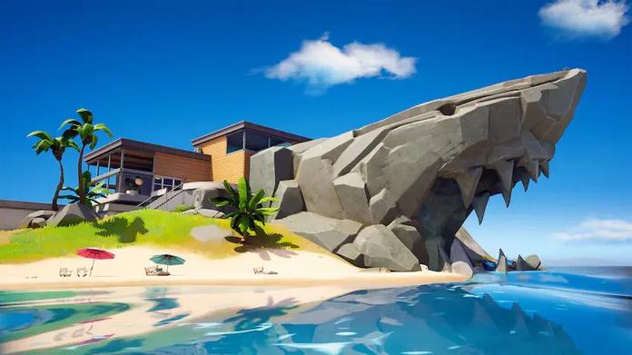 Fortnite's Shark Head island.