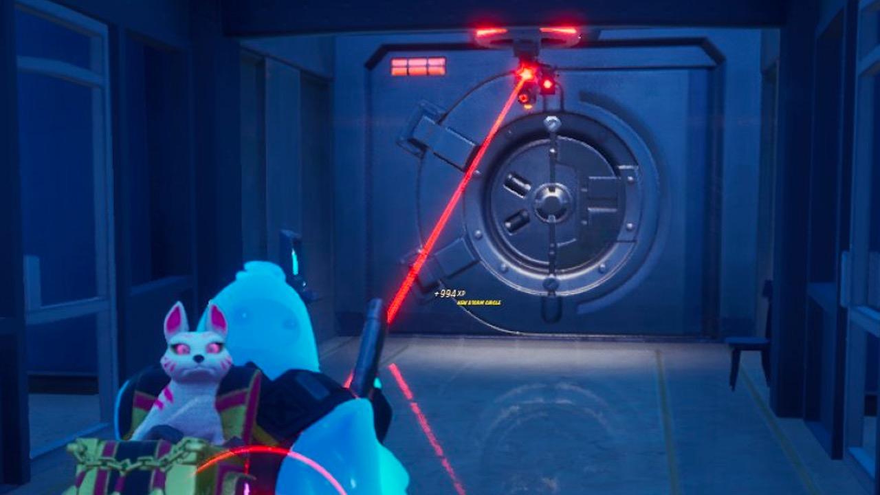Loot vault at The Shark in Fortnite