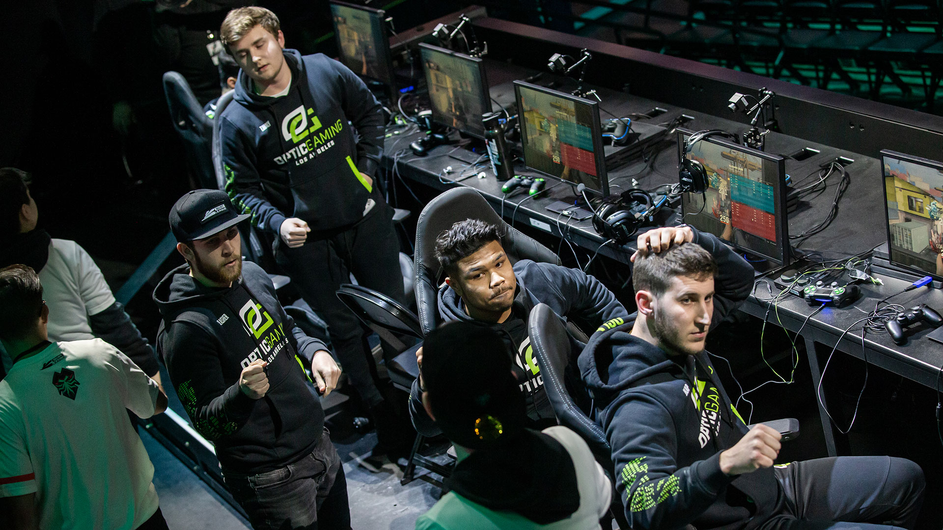 OpTic Gaming at CDL Atlanta after their loss to Florida Mutineers.