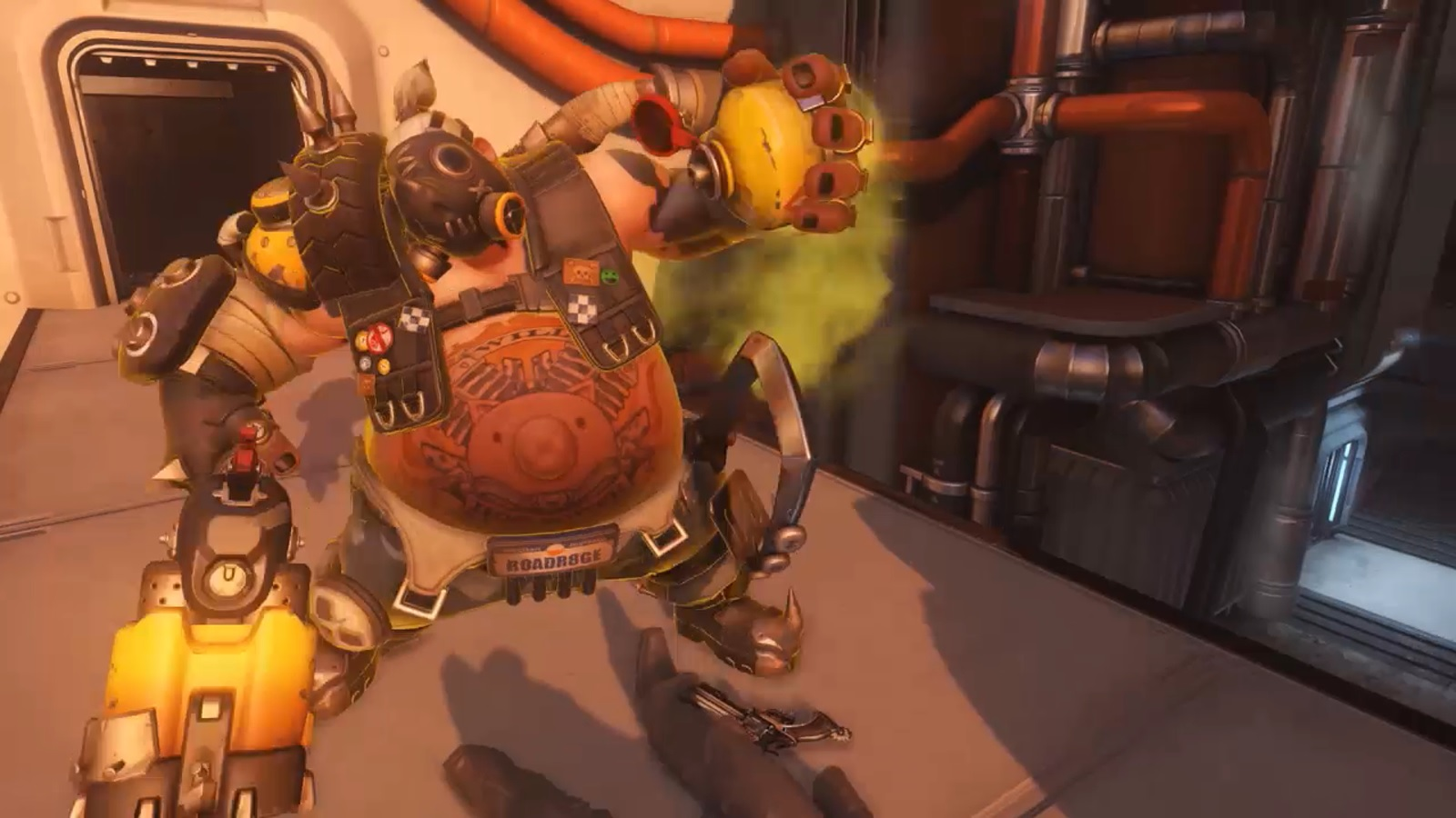 Roadhog using Take a Breather in Overwatch