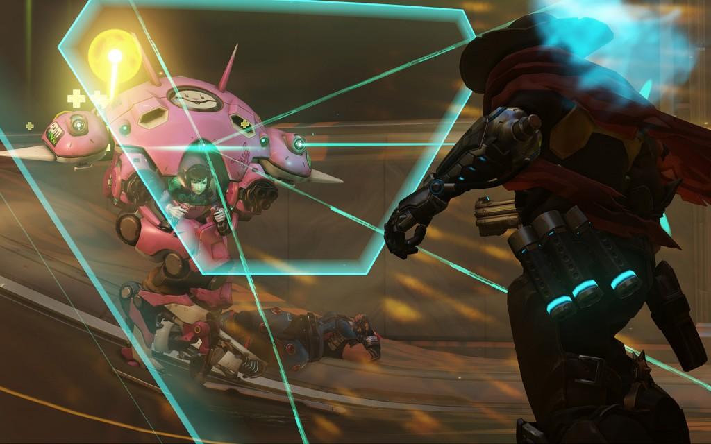 D.Va using Defense Matrix in Overwatch