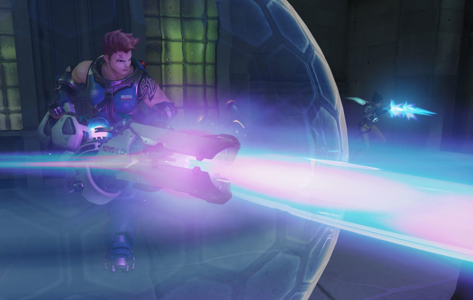 Zarya using bubble in Overwatch