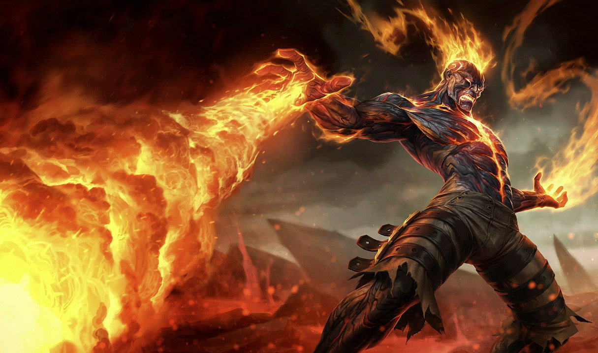 Default Brand skin in League of Legends