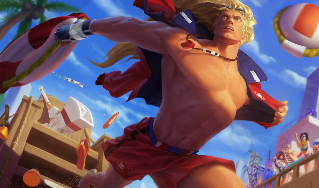 Pool Party Taric skin for League of Legends