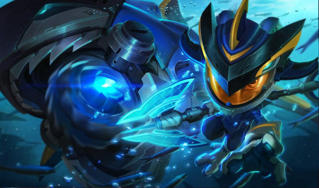 Super Galaxy Fizz skin for League of Legends
