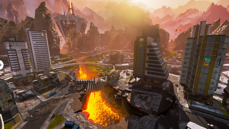Harvester and lava in Apex Legends