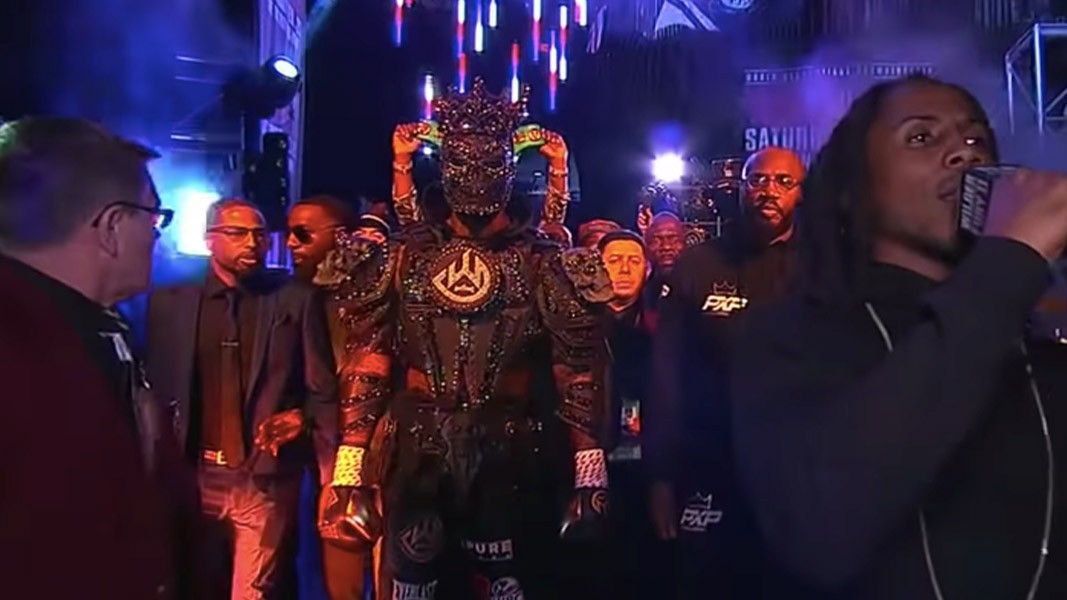 An image of Deontay Wilder in a costume before the second Tyson Fury fight