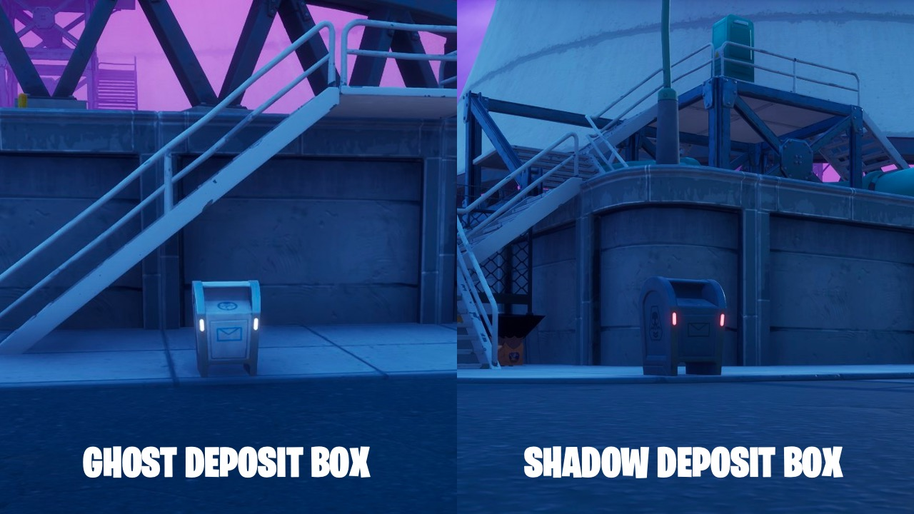 Deposit box locations at Fortnite's Steamy Stacks