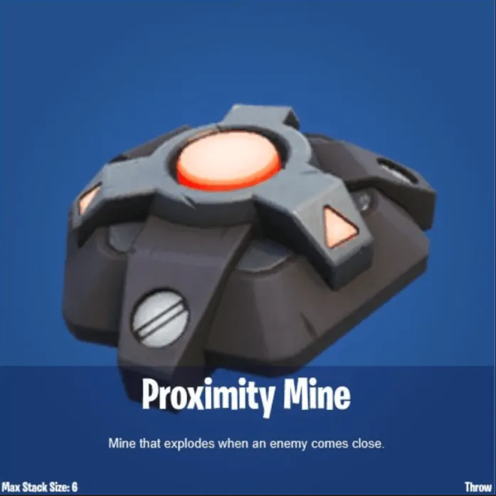 Fortnite's Proximity mines
