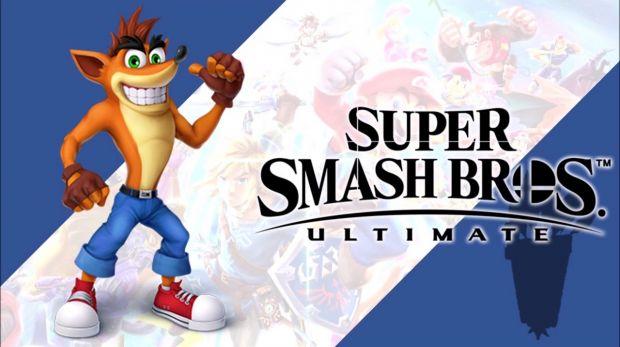 Crash in Smash Ultimate