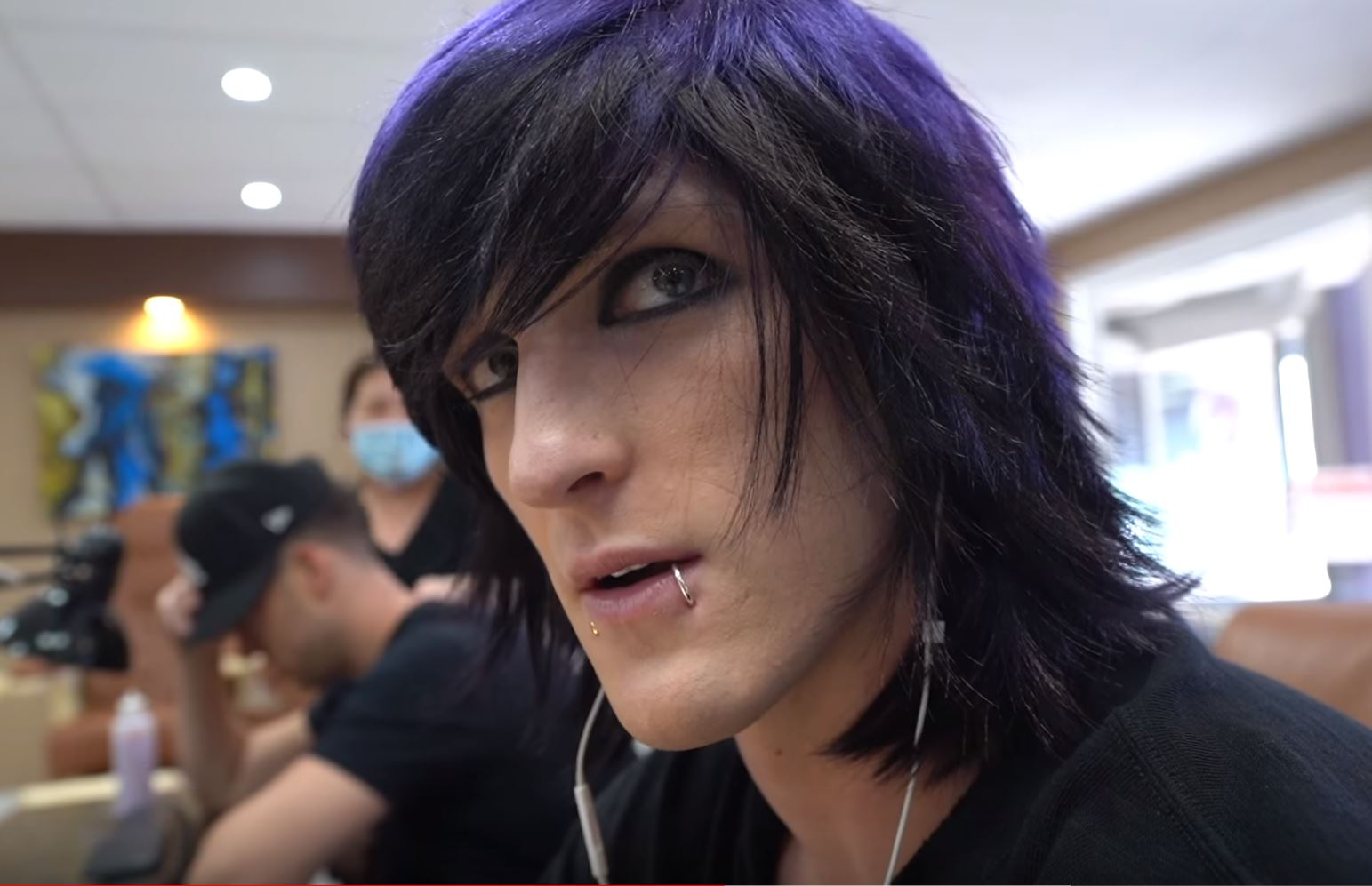 Jake Paul Purple Hair