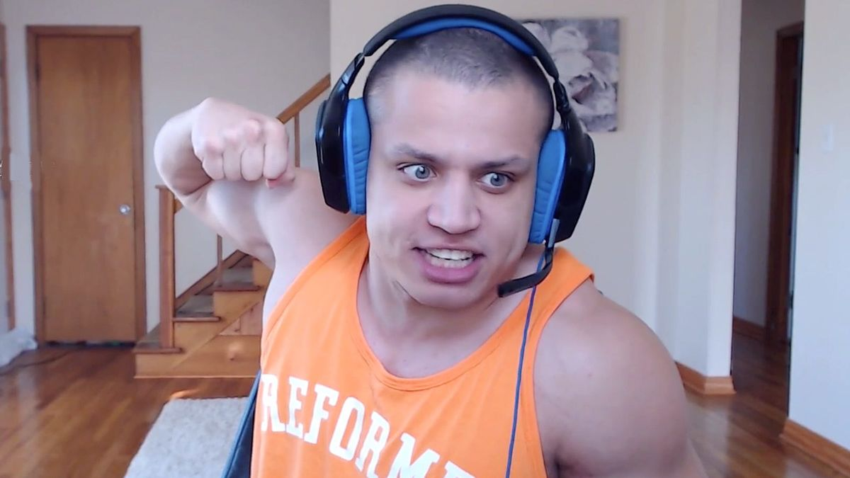 Tyler1 punching monitor on Twitch stream