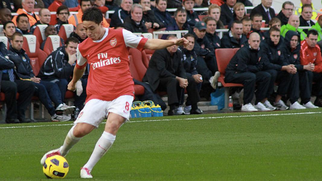 An image of Samir Nasri playing for Arsenal