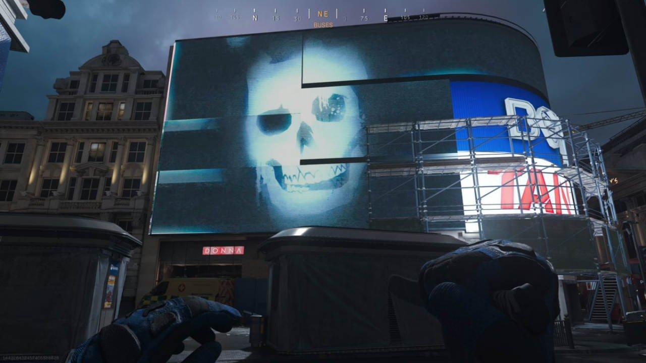 Ghost's teasers in Modern Warfare.