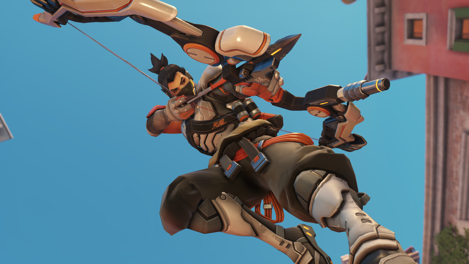 Hanzo drawing bow in overwatch