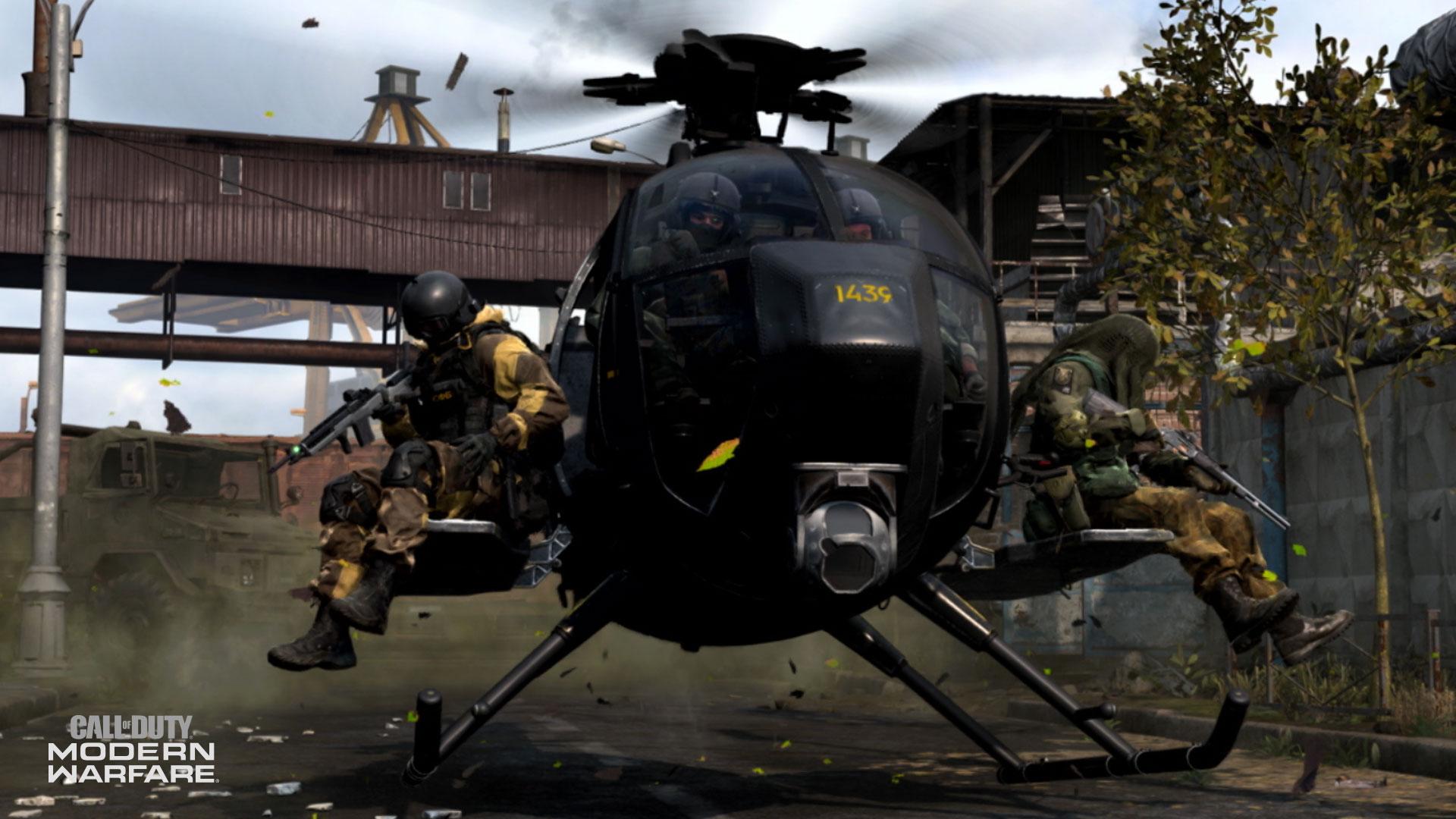 Helicopter in Modern Warfare.