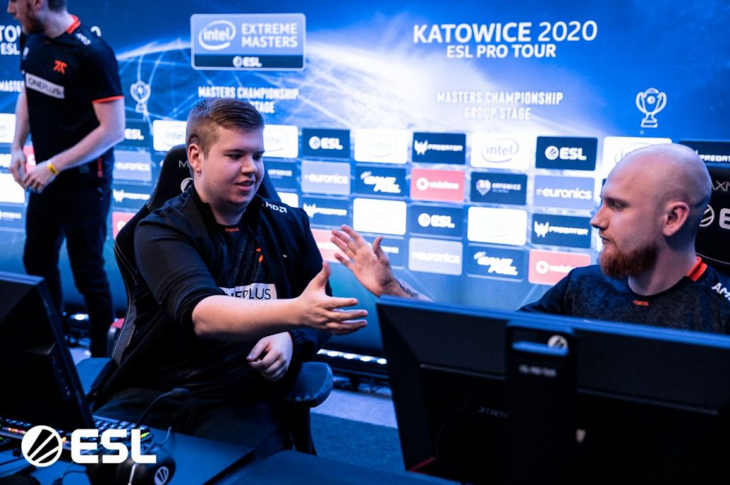 Fnatic at IEM Katowice 2020.