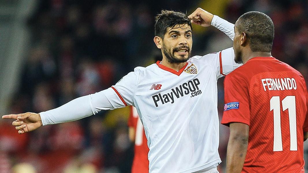 Ever Banega in action for Sevilla