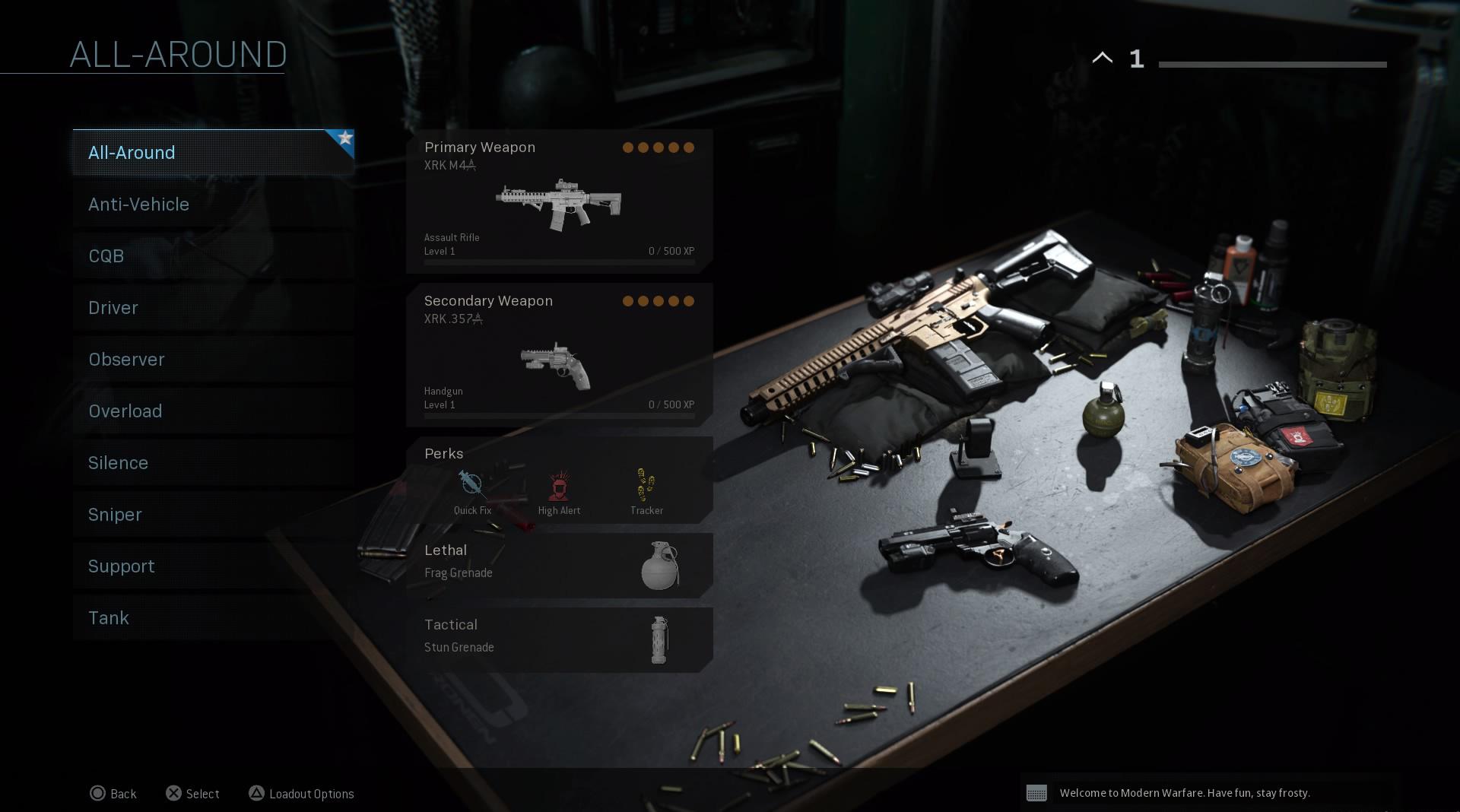 Call of Duty Warzone custom loadouts.