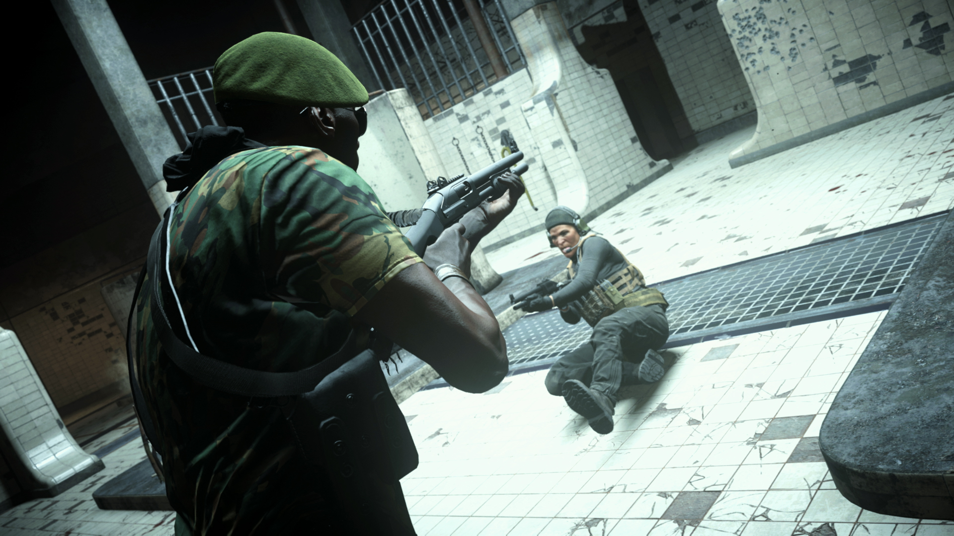 Players in the Gulag in Warzone.