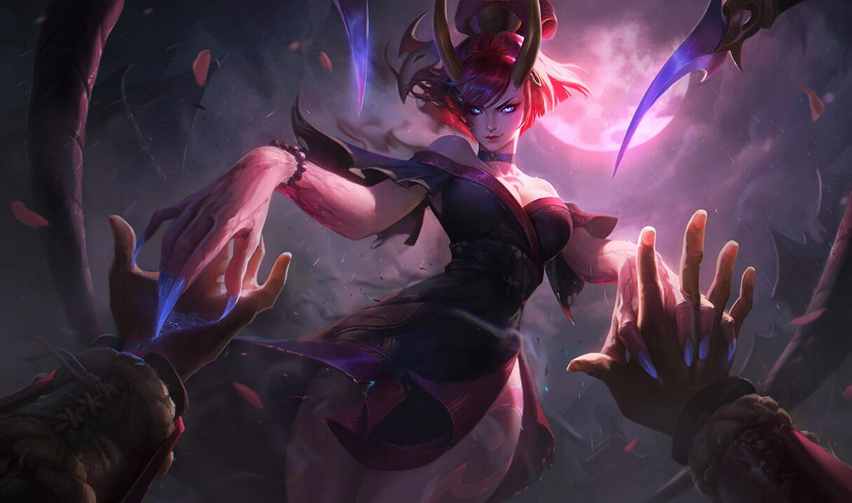 Blood Moon Evelynn skin in League of Legends