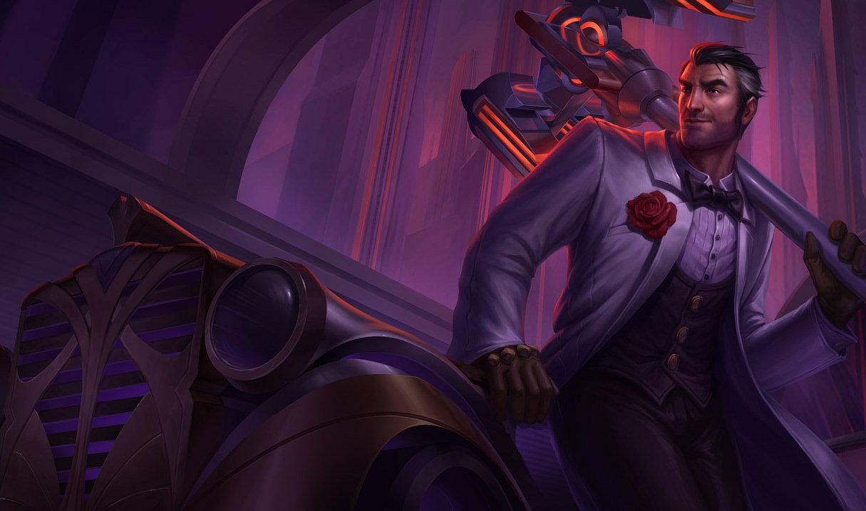 Debonair Jayce splash art for League of Legends