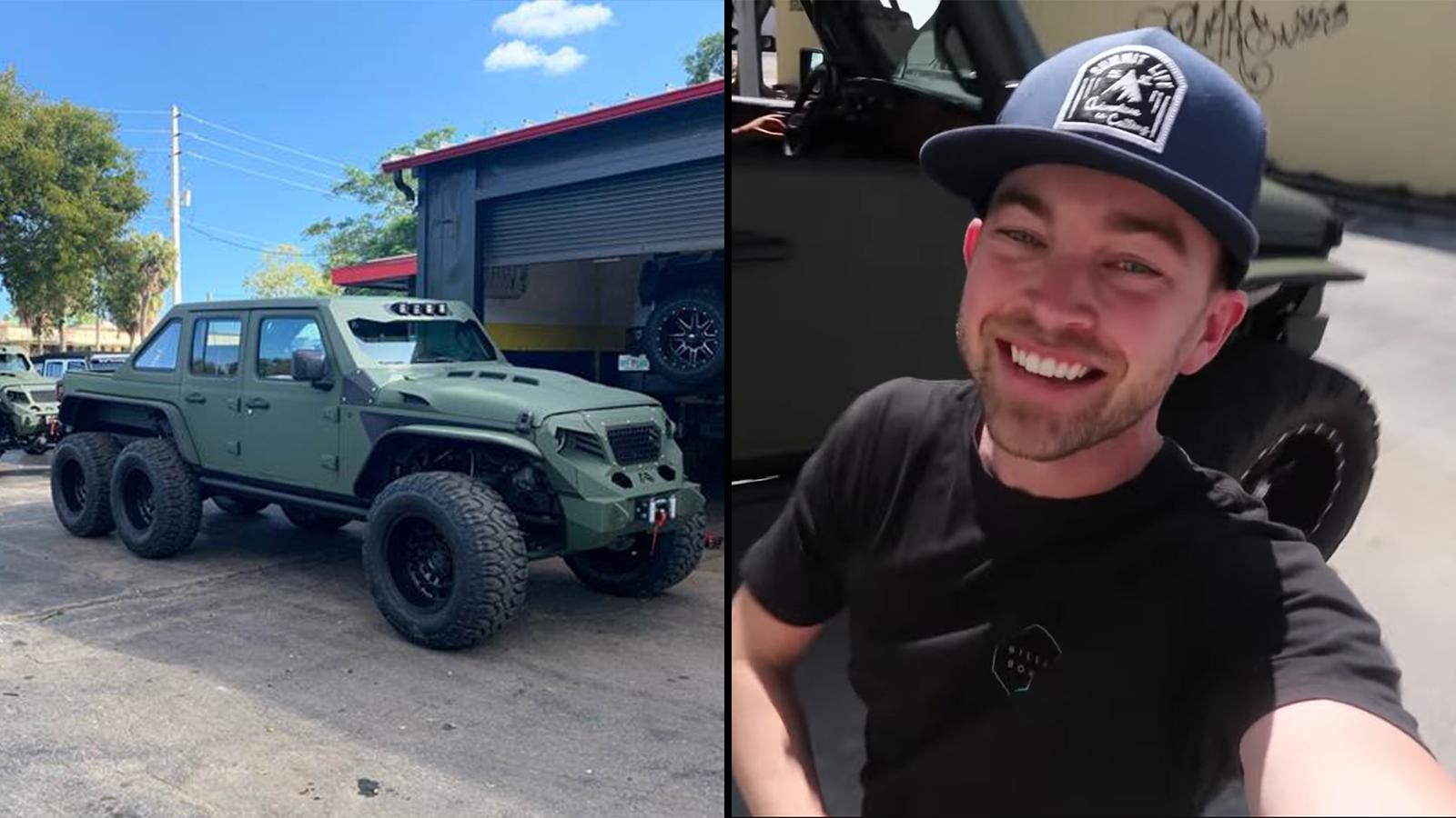 The Stradman Blown Away By Ridiculous 100 000 Jeep Wrangler 6x6 Dexerto